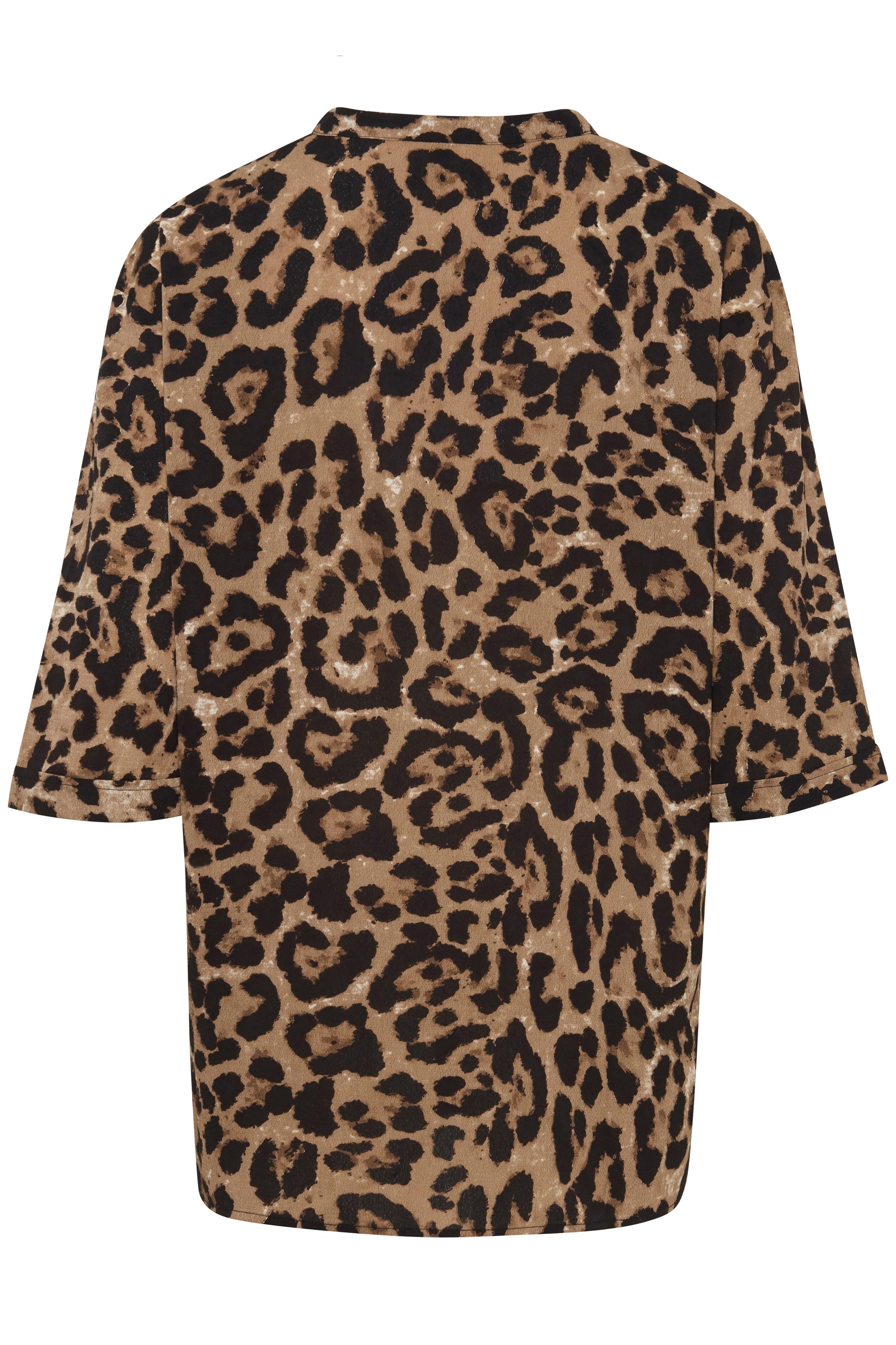 Leopard Sand print Kimono – Køb Leopard Sand print Kimono fra str. XS-XL her