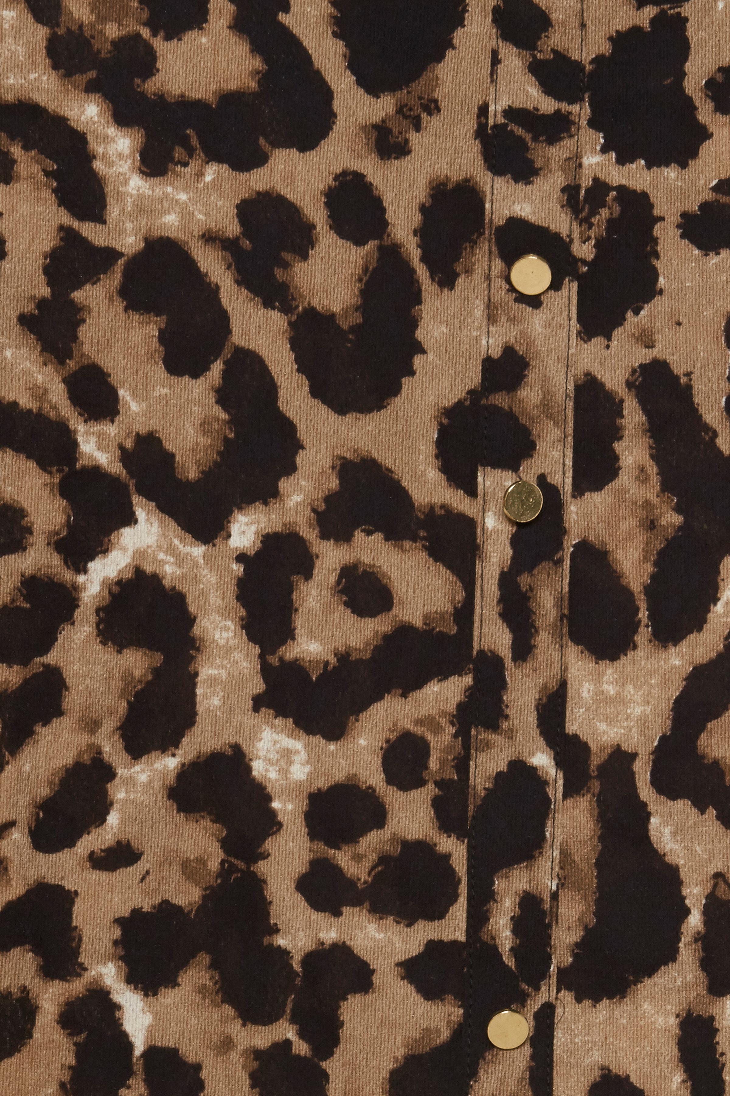 Leopard Sand print Kortærmet bluse – Køb Leopard Sand print Kortærmet bluse fra str. S-XXL her