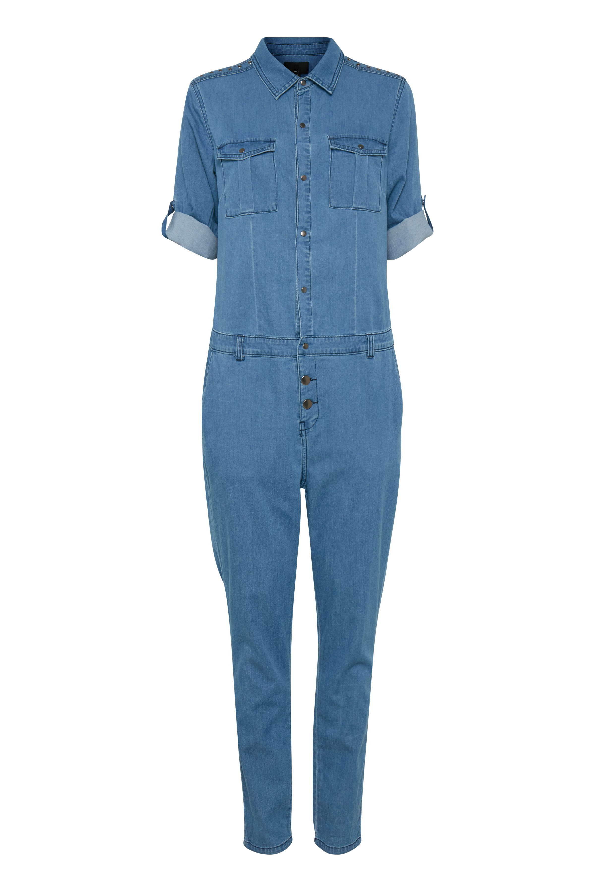 Medium blue denim Jumpsuit – Køb Medium blue denim Jumpsuit fra str. 32-44 her