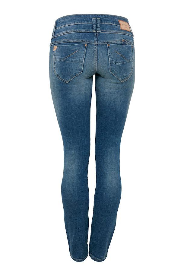 128f084d454 Medium blue denim PZAnett Midtwaist Skinny Jeans – Køb Medium blue denim  PZAnett Midtwaist Skinny Jeans fra ...