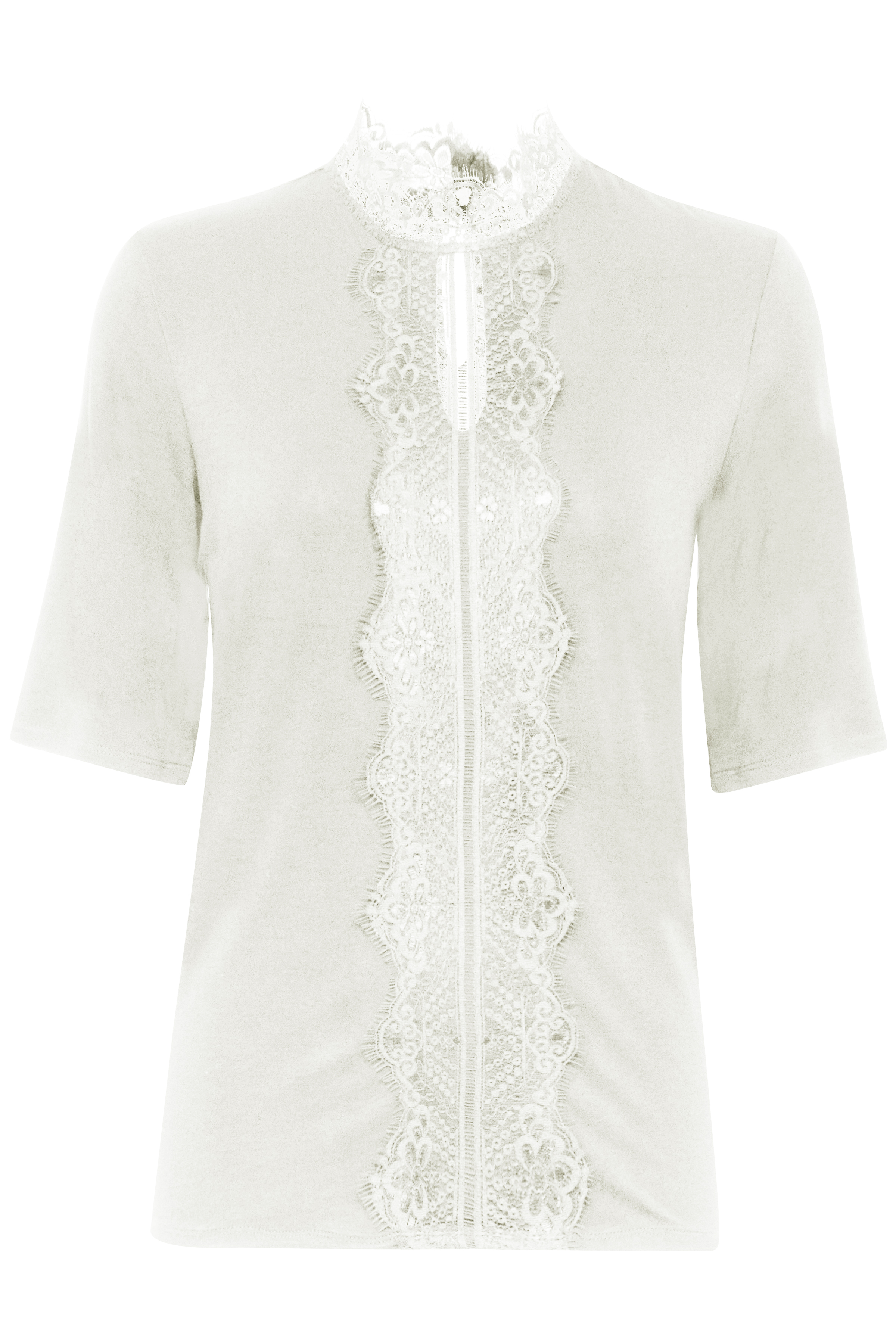 Soft Cream Kortærmet bluse – Køb Soft Cream Kortærmet bluse fra str. XS-XXL her